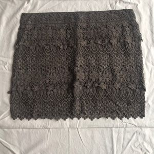 American Eagle lace zip up mini skirt charcoal